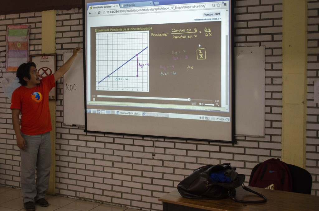 Kids on Computers - Alex Teaching teachers in Mexico how to use various software. @coreylatislaw.com