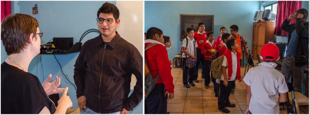 Demoing Google Glass at the Ricardo Flores Magon school. @coreylatislaw.com