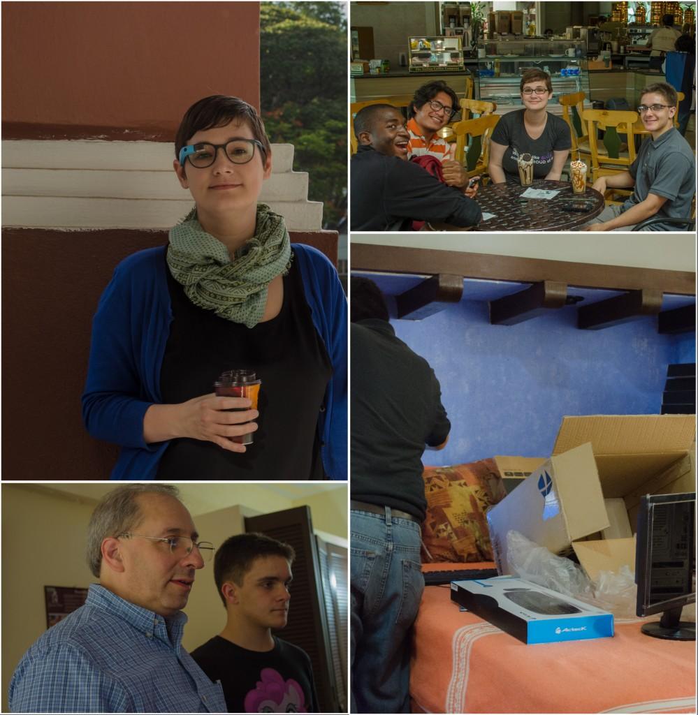 Volunteers and Corey at lunch. @coreylatislaw.com