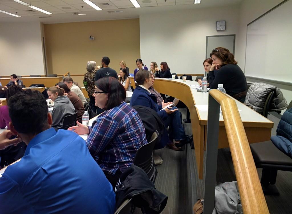 Barcamp Philly 2014 - Corey's workshop participants brainstorm in phase 2 of the workshop. @coreylatislaw.com