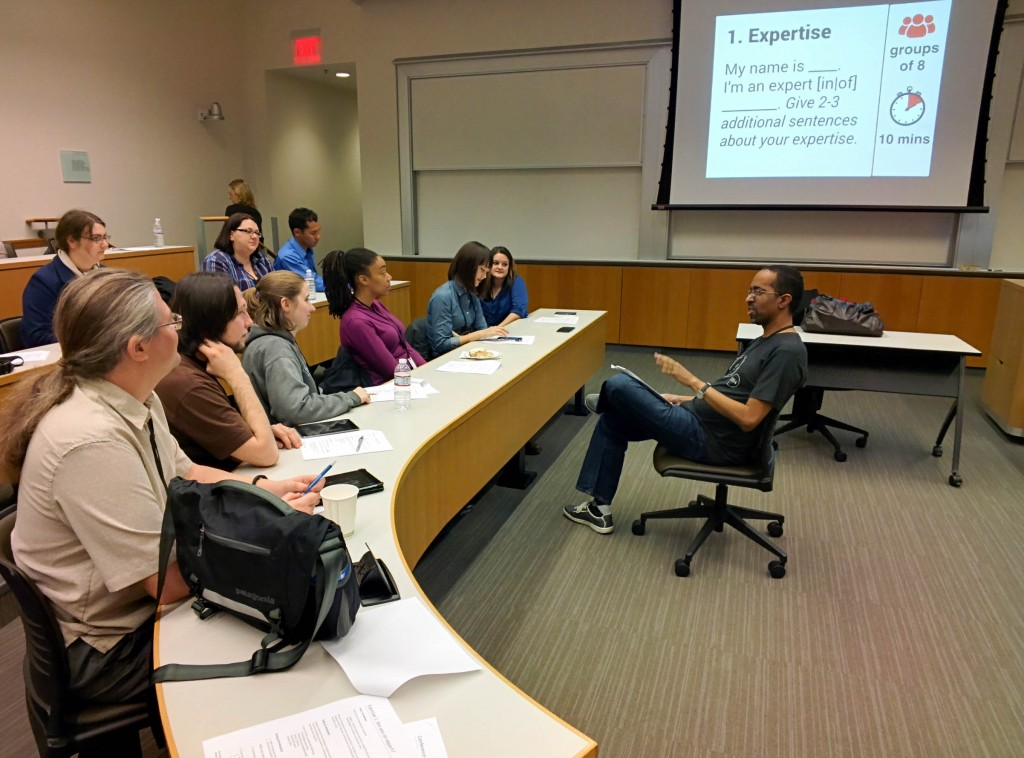 Barcamp Philly 2014 - Participants begin the workshop and introduce their areas of expertise. @coreylatislaw.com